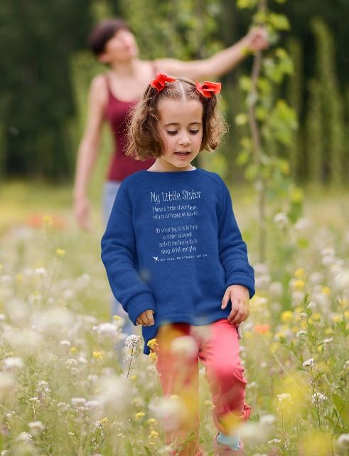 My Little Sister Toddler Sweatshirt Navy