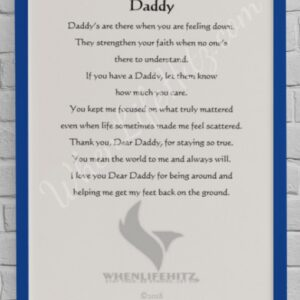 5x7 Father Blue Frame-personalized