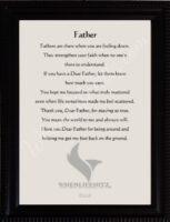 5x7 Father Ridged Black Frame