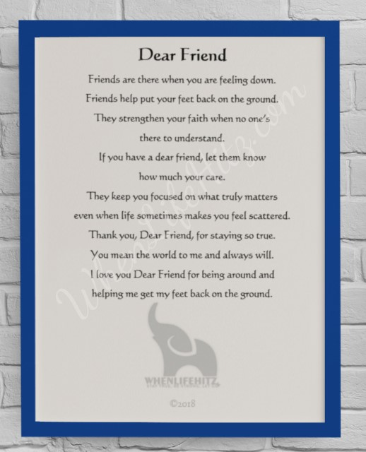 5x7 Friend Blue Frame