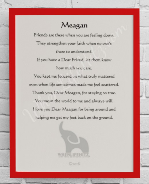 5x7 Friend Red Frame-Personalized