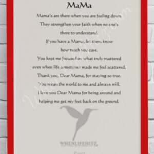 5x7 Mother Red Frame-personalized