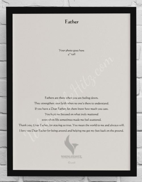 8x10 Father Black Frame