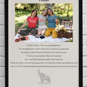 8x10 Friend Black Frame with pic