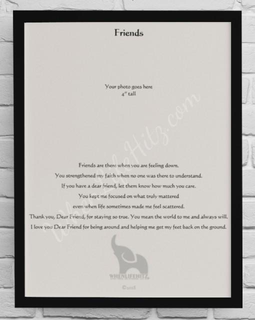 8x10 Friend Black Frame