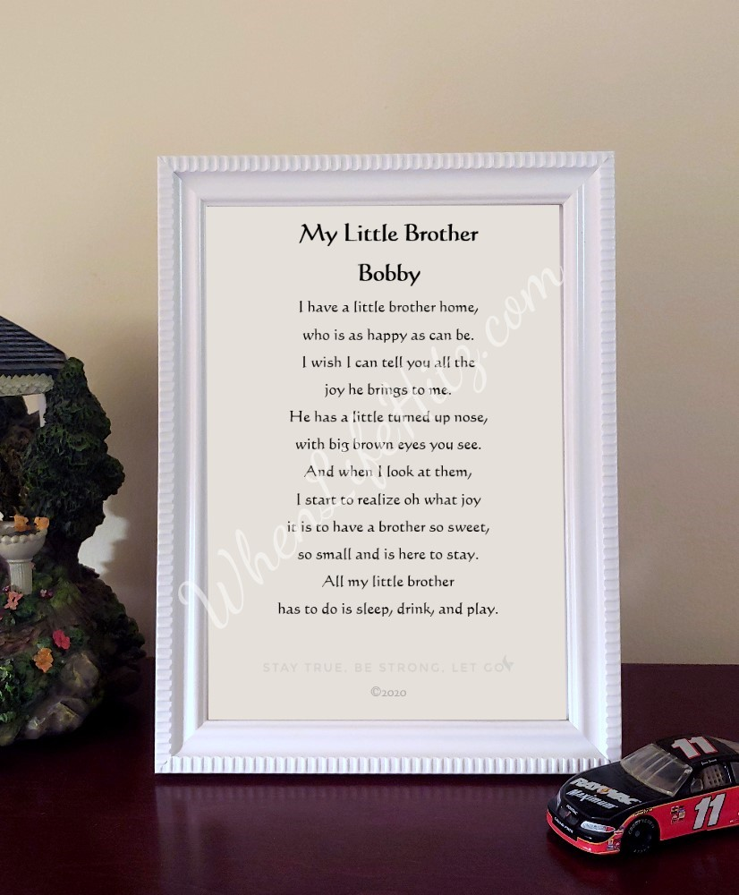 Brother 5x7 Ridged White Frame with Eagle-Personalized