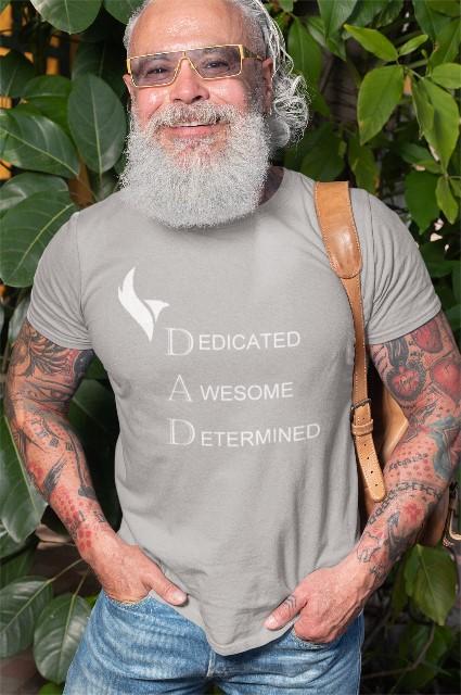 Eagle Dad Tshirts-Grey