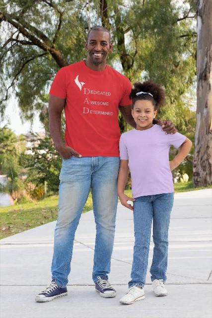 Eagle Dad Tshirts-Red