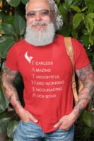 Eagle FatherTshirt Red