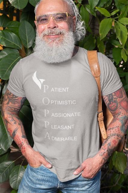 Eagle Poppa Tshirts-Grey